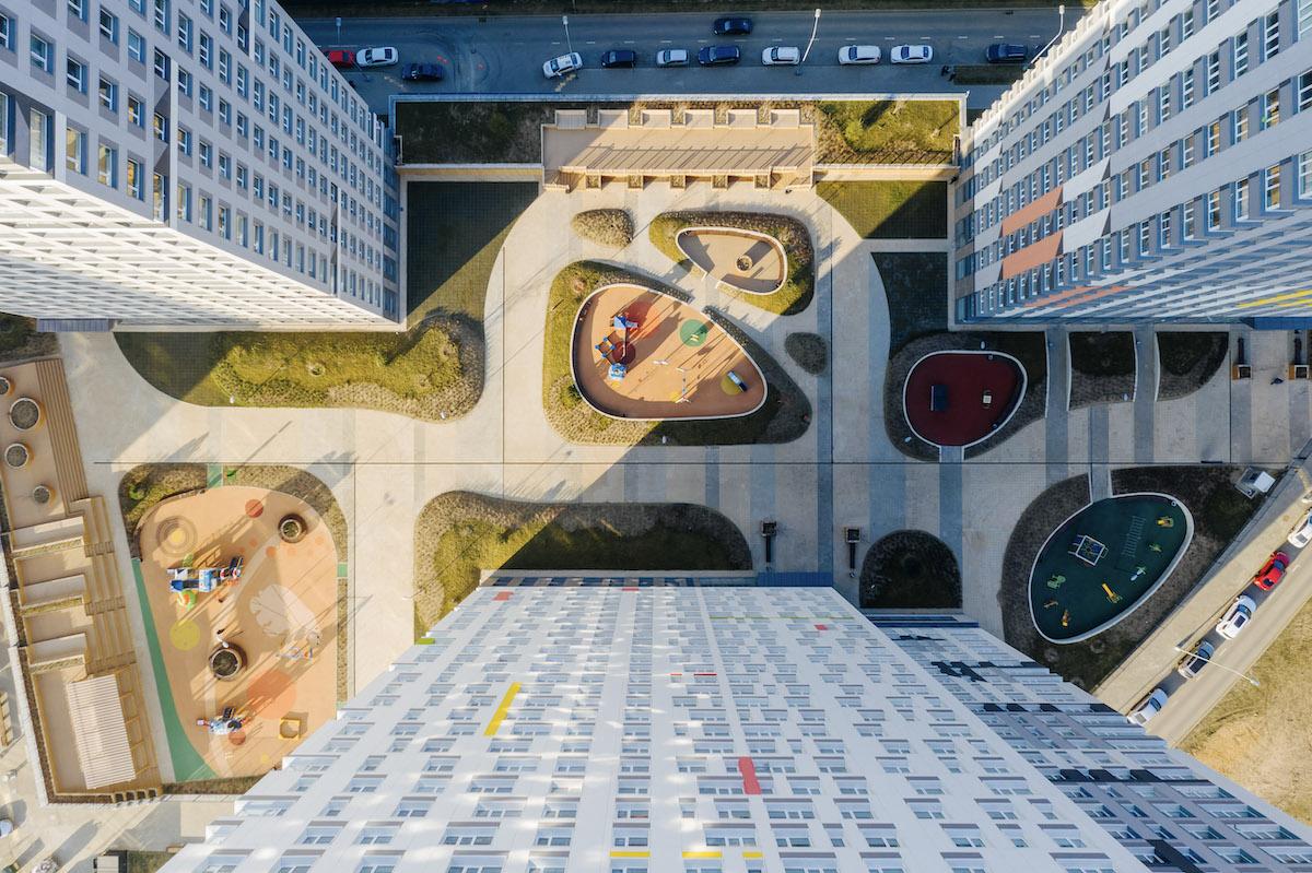 Двор в жилом комплексе «Спутник»